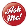 """Ask Me!"" 3 Red Button  - stock # 887"