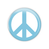 "Light Blue Peace 1.5"" Button   - stock # 652"