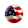 "American Flag 1.25"" Button  - stock # 633"