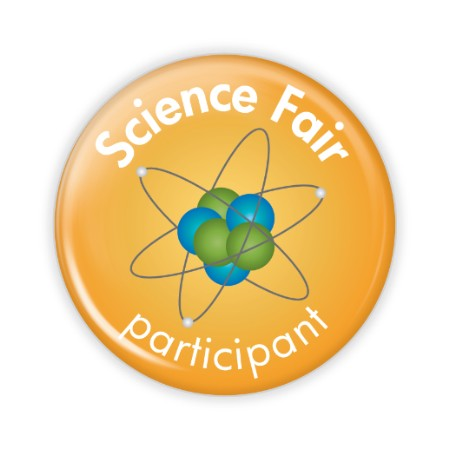 stock buttons round science fair participant button science fair participant 2 25 button stock 732