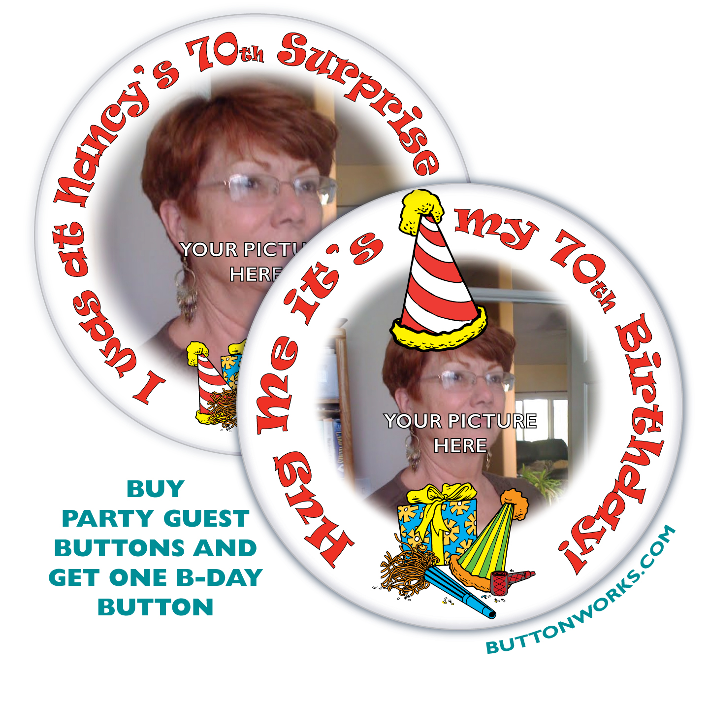 Custom Birthday Buttons By Buttonworks