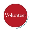 "Volunteer Red 2.25"" Button  - stock # 2042"