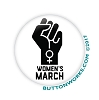 "Fist of Power Women's March 1.5"" Button   - stock # 2045"
