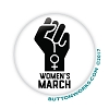 "Fist of Power Women's March 1.75"" Button  - stock # 2046"
