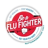 "Flu Fighter - Flu Shot -  2.25"" Buttons   - stock # 2051"