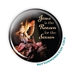 "Christmas - Jesus is the Reason for the Season - 2.25"" Button  - stock #2098"