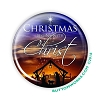 "Christmas - Begins with Christ - 2.25"" Button  - stock #2100"