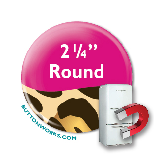"Custom Button Fridge Magnets 2.25"" Round"