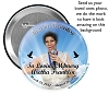 Semi - Custom Buttons 3 inch for Memorials with a Cloud & Doves background