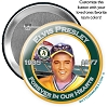 Semi - Custom Buttons 3 inch for Memorials with a Sports Look