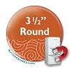 "Custom Button Fridge Magnets 3.5"" Round"