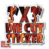 "3"" x 3"" Vinyl Die Cut Sticker - Full Color"