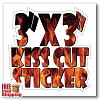 "3"" x 3"" Vinyl Kiss Cut Stickers/Decals - Full Color"