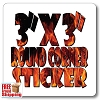 "3"" x 3"" Rounded Corner Square Vinyl Sticker - Full Color"