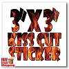 "3"" x 3"" Square Vinyl Sticker - Full Color"