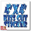 "4"" x 4"" Vinyl Kiss Cut Sticker - Full Color"