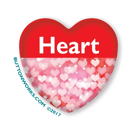 Heart Shaped Custom Buttons - Customize your buttons today
