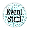 "Event Staff - Fancy 3"" Button  - Stock #2039"