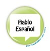 "Hablo Espa�ol - 2.25"" Button  - stock # 1077"