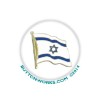 "Waiving Israeli Flag 1"" Button   - stock # 1084"