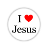 "I Love Jesus 1.5"" Button  - stock # 641"