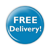 "Free Delivery 2.25"" Button  - stock # 673"