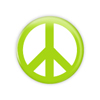 "Lime Peace 1.5"" Button    - stock # 649"