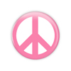 "Light Pink Peace 1.5"" Button  - stock # 651"