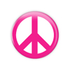 "Pink Peace 1.5"" Button   - stock # 648"