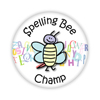 "Spelling Bee Champ 2.25"" Button   - stock # 635"