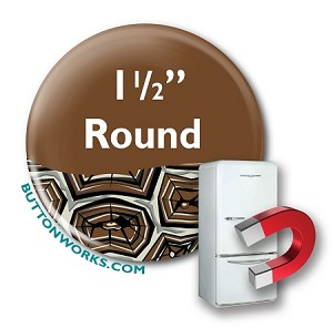 "Custom Button Fridge Magnets 1.5"" Round"