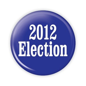 "2.25"" 2012 Election Button  - stock # 855"