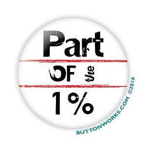 "2.25"" Part of the 1% Button  - Stock # 2030"