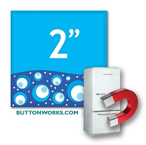 Custom Button Fridge Magnets 2 inch Square