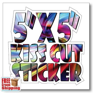 "5"" x 5"" Vinyl Kiss Cut Sticker - Full Color"