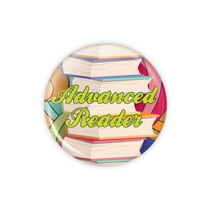 "Advanced Reader SMALL 1.5"" Button  - stock # 771"