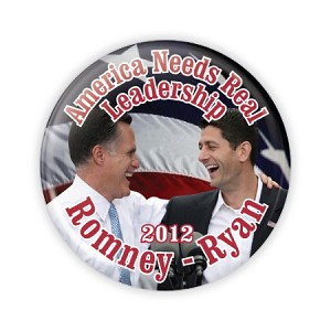 "2.25"" America Needs Real Leadership Button  - stock # 864"
