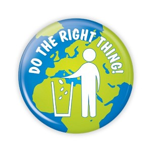 "Do The Right Thing - Recycle 2.25"" Button  - stock # 835"