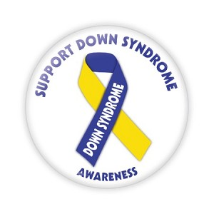 "Support Down Syndrome Awareness 2.25"" Button  - stock # 734"