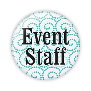 "Event Staff Fancy 2.25"" Button  - stock # 743"