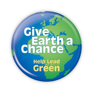 "Give Earth A Chance 2.25"" Button  - stock # 834"