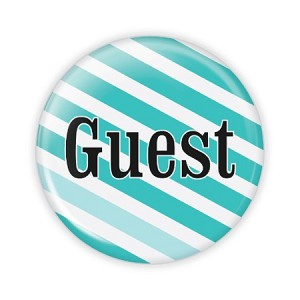 "Guest Fancy 2.25"" Button  - stock # 746"