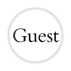 "Guest Basic 2.25"" Button  - stock # 745"