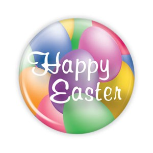 "Happy Easter - 2.25"" Button  - stock # 726"