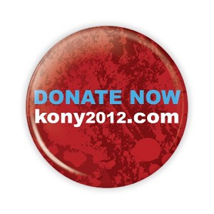 "2.25"" Donate Now - Kony 2012 Button  - stock # 842"