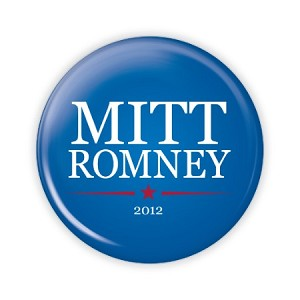 "2.25"" Mitt Romney (Blue) Button  - stock # 797"