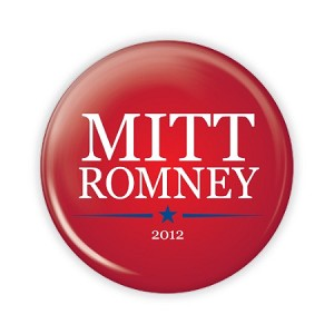"2.25"" Mitt Romney (Red) Button  - stock # 798"