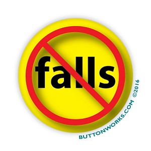 "No Falls 2.25"" Button  - stock # 2028"