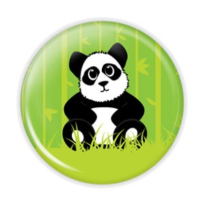 "Panda 2.25"" Button  - stock # 728"