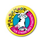 Maggie Moo's Logo Button  - stock # 604